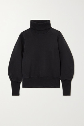 AGOLDE Cotton-jersey Turtleneck Sweatshirt - Black