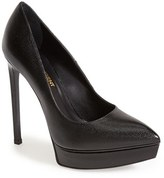 Saint Laurent 'Janis' Pointy Toe Platform Pump (Women)