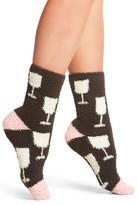 PJ Salvage Women's Wine Glasses Plush Socks