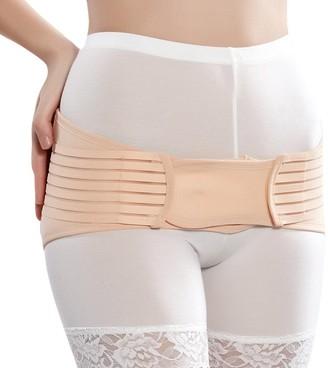 Dexinx Postnatal Hip Support Body Shaper Postpartum Recovery Pelvic Stabiliser & Belly Belt for Regaining Waist Form Skin Color M