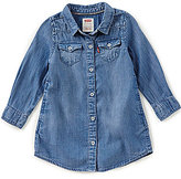 Levi's s Baby Girls 12-24 Months Button-Front Chambray Dress