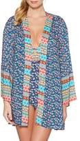 Laundry by Shelli Segal Patchwork Floral Cover-Up Kimono