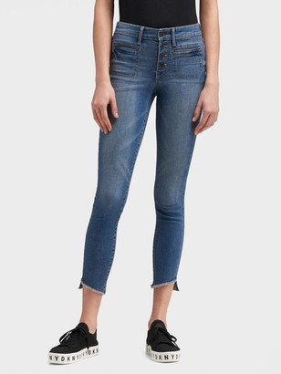 DKNY High-rise Skinny Ankle Jean - Button-fly