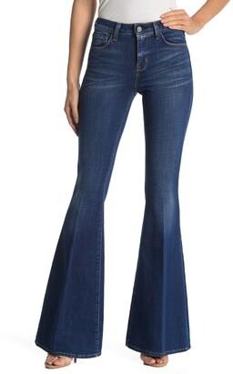L'Agence Charlie Fray Flare Leg Jeans