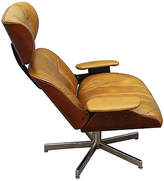 One Kings Lane Vintage 1960s Leather Swivel Chair