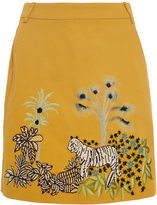 Alberta Ferretti Cotton Embroidered Skirt