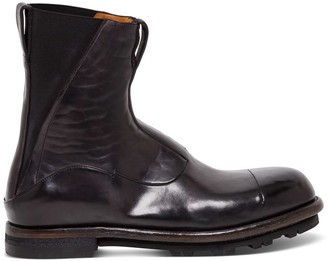 Silvano Sassetti Beatles Blake Boots In Brown Leather