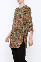 Olive Hill Paisley Henley Tunic