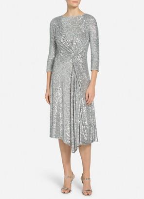 St. John Starlight Sequin Mesh Dress