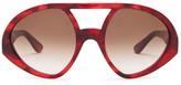 Valentino Women's Oversized Acetate Aviator Sunglasses