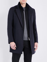 HUGO BOSS Stand Collar cotton-blend coat