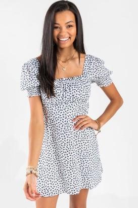 francesca's Olivia Babydoll Mini Dress - Black/White