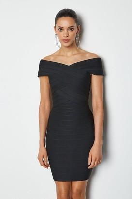 Karen Millen Bardot Bandage Short Dress