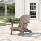 Birch Lane Birch LaneTM Heritage Ridgeline Solid Solid Wood Folding Adirondack Chair Heritage Color: Natural