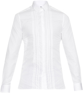 Lanvin Stitched bib-front cotton shirt