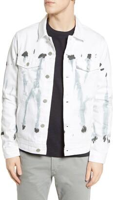 Blank NYC Tie Dye Denim Trucker Jacket