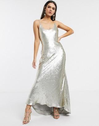 ASOS DESIGN cami embellished maxi dress