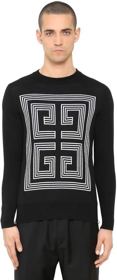 Givenchy 4g Logo Intarsia Wool Sweater