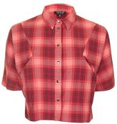 Topshop Check cropped shirt