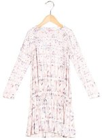 Roberto Cavalli Girls' Watercolor Long Sleeve Dress