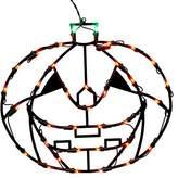"Vickerman 16"" Lighted LED Pumpkin Halloween Window Silhouette Decoration"