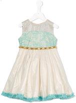 La Stupenderia lace panel dress - kids - Cotton/Linen/Flax - 4 yrs