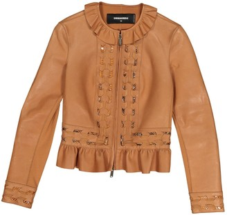 DSQUARED2 Camel Leather Jackets
