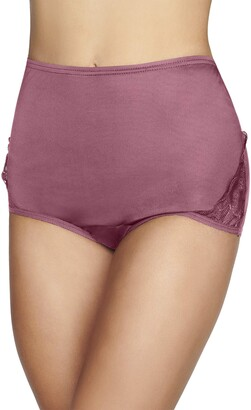 Vanity Fair Women's Perfectly Yours Lace Nouveau Nylon Brief Panty (Fashion Colors)