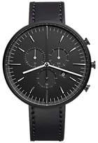Uniform Wares M42skk01corblk1818r01 M42 Chronograph Date Leather Strap Watch, Black