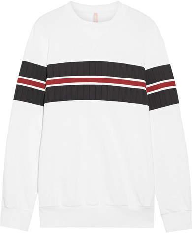 NO KA 'OI No Ka'Oi - Nula Paneled Cotton-blend Sweatshirt - White