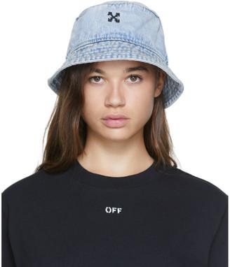 Off-White Blue Denim Bucket Hat