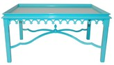 The Well Appointed House Oomph Lacquered Newport Coffee Table with Fretwork Detail-Available in 16 Different Colors