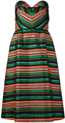 DELPOZO striped dress