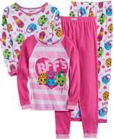 Girls 4-10 Shopkins Kooky Cookie, Handbag Harriet, Lippy Lips & Apple Blossom Tops & Bottoms Pajama Set