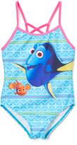 Finding Dory Aqua One-Piece Swimsuit - Girls
