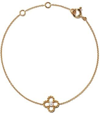 As 29 18kt yellow gold Mye clover beading diamond bracelet