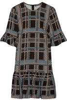 Markus Lupfer Plaid Stretch-Crepe Dress