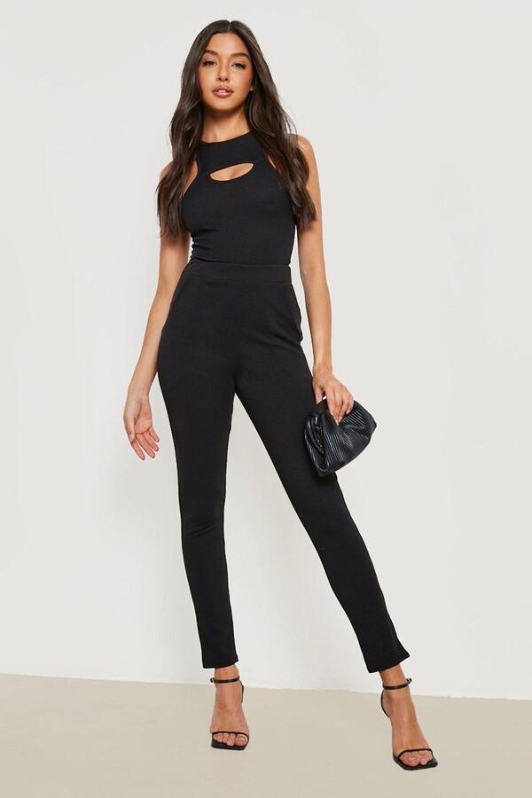 Basic Crepe Stretch Skinny Pants