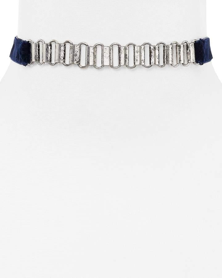 Aqua Frankie Watch Chain Choker, 11