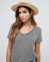 Vero Moda Straw Fedora Hat