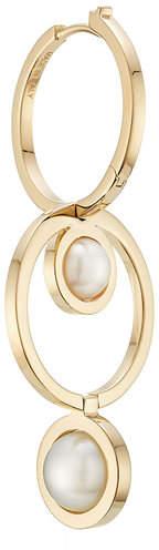 Delfina Delettrez Seal 18kt Yellow Gold Double Hoop Earring