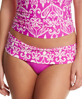 Athena Sand Tropez Printed Fold-Over Swim Bottom