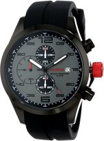 Redline Red Line Men's RL-50042-01GY Stealth Chronograph Textured Dial Black Silicone Watch