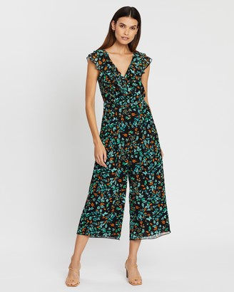 Whistles Forest Floral Frill Jumpsuit