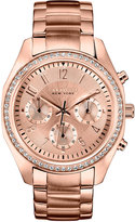 Bulova Caravelle New York by Women's Chronograph Rose Gold-Tone Stainless Steel Bracelet Watch 36mm 44L117