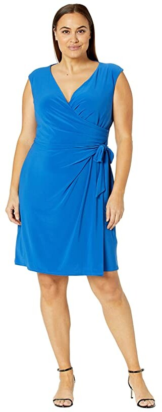 Thumbnail for your product : Lauren Ralph Lauren Plus Size Saida Cap Sleeve Day Dress