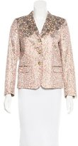 Dries Van Noten Fitted Jacquard Blazer