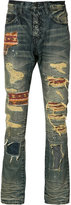 PRPS patch-detail distressed jeans