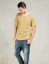 Silas Yellow S/S Border Pocket T-Shirt