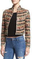 Alice + Olivia Mikayla Embellished Cropped Jacket, Multicolor